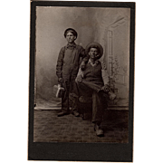 Antique Occupational Cabinet Photo of Two Brothers Coal Miners from West Virginia or ...