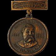 Antique GAR Civil War Illinois 19th Infantry Volunteer Medal State Fair 1908