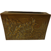 WWI German Trench Art Battle Scene Infantry Assault Match Safe Holder