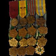 Rare Vietnam US Coast Guard Parade Medals Miniature Dress Uniform