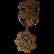 Rare WWI Era 12th Naval District Shooting Medal San Francisco Rifle US Navy