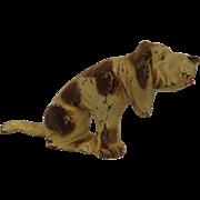 Vintage Manoil Bloodhound Hunting Dog Lead Toy Figurine Old
