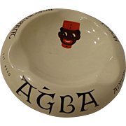 Rare Turkish Ashtray from the Agba Hotel & Restaurant in Adana Turkey Golli Graphic Ottoman