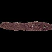Beautiful Purple Amethyst Necklace Good Color 1970s Vintage