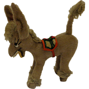 Vintage Plush Mohair Smiling Toy Donkey German Made by Anker