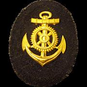 Authentic WWII German Kriegsmarine Engine NCO Career Sleeve Insignia Badge Navy