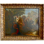 SALE Early 18th century ( late Baroque ) Dutch painting of Christ and the Samaritan Woman at .