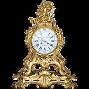 SALE Exquisite 18th Century Gilt Bronze Rococo Putto Bracket or Cartouche Mantel Clock, by ...