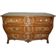 SALE Rare 18th century French Louis XIV Walnut Commode