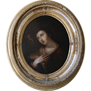 16th / 17th century Baroque Flemish painting of the Penitent Mary Magdalene