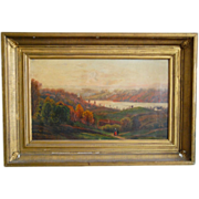SALE Early to Mid 19th century Hudson River School Fall Landscape