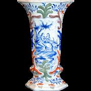 SALE 18th century Delftware porcelain beaker vase, Royal Delft, signed, Faience