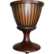 SALE Antique Dutch Victorian Mahogany Wood Urn Planter / Cachepot (Jardiniere or possibly Wine