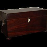 SALE Large Georgian Mahogany Tea Caddy , English Early 19th century George III Antique Box