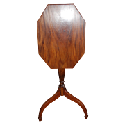 SALE American Federal Period Candlestand Tilt Top Table Mahogany late 18th early 19th century
