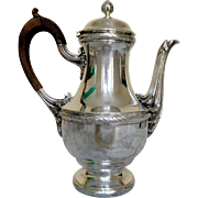 French antique sterling silver coffee pot, Louis XVI style