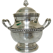Puiforcat:  Sterling Silver Sugar Pot - Louis XVIth style - France Early 20th Century