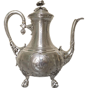 French antique sterling silver coffee pot - Fray Fils