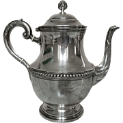 Puiforcat: Sterling Silver Tea Pot - Louis XVIth style - France Early 20th Century