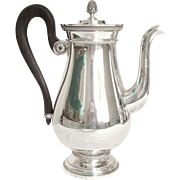 Cardeilhac : French sterling silver coffee pot, Empire style, Christofle Malmaison pattern