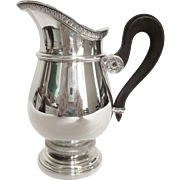 Cardeilhac : French sterling silver milk jug, Empire style, Christofle Malmaison pattern