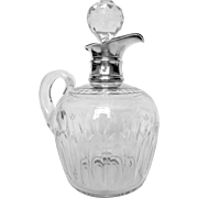 Antique French Baccarat crystal & sterling silver whisky decanter