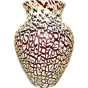 """French Saint Louis / St Louis overlay crystal vase - 13 3/4"""""""
