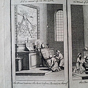 SALE 1730 Engraving by Picart showing Liturgy of the Catholic Church