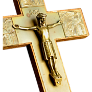 SALE Brass Crucifix with the symbols of the Four Evangelists made in Germany