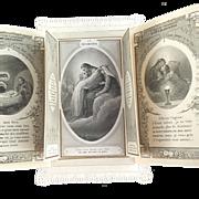 "SALE ""La Grace"" French Triptych Lace Holy Card"