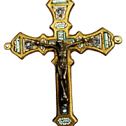 Unique Micro Mosaic Crucifix by Stocker