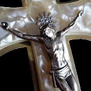 Pearled Bakelite Crucifix