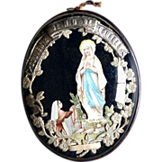 REDUCED French Our Lady of Lourdes Ex-Voto