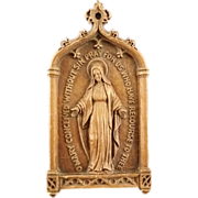 SOLD Blessed Virgin Mary Wall Plaque