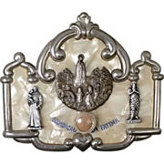 SOLD Bakelite Fatima Relic with St. Anthony and St. Onuphrius