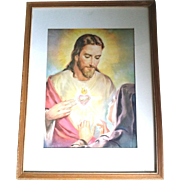 Framed Sacred Heart Print