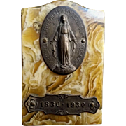 SOLD French Bakelite Miraculous Medal Plaque