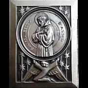 Italian Plaque of Saint Francis of Assisi