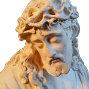 Alabaster Christ Wearing Crown of Thorns