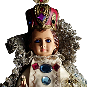 Infant of Prague in Satin & Brocade Gowns