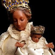 Wax Black Madonna and Child