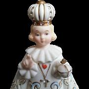 Bejewelled Porcelain Infant of Prague