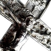 Crucifix Holy Water Font with Images of the Apostles