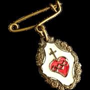 SALE Italian Sacred Heart Pin