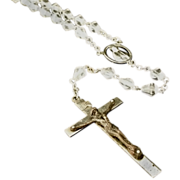 REDUCED Faceted Crystal Bead Rosary