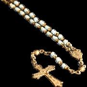 Handmade Blue Beaded Rosary Chaplet from Italy