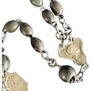 French Art Nouveau Featherlight Bead Rosary