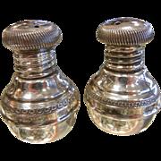 Fine Hallmarked Middle Eastern Sterling Silver Shaker Set