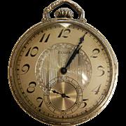 Vintage 14K Gold Filled Elgin National 17 Jewel Pocket Watch - Size: 14