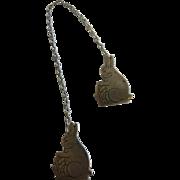 Vintage Webster Fine Sterling Silver Rabbit Bib Clip